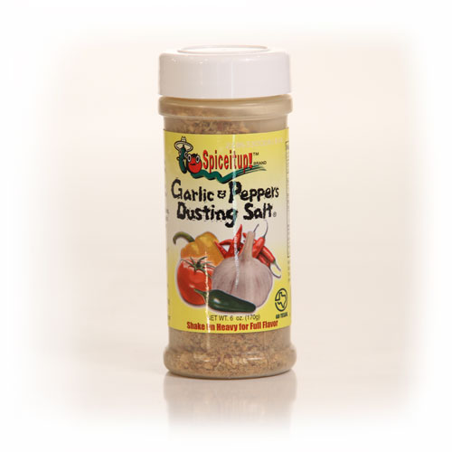 Garlic & Peppers Dusting Salt 6oz 6 Pk